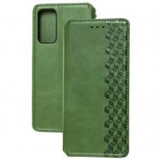 Чехол книжка для Samsung Galaxy S20 FE (G780) Getman Cubic зеленый