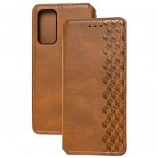 Чехол книжка для Samsung Galaxy S20 FE (G780) Getman Cubic коричневый