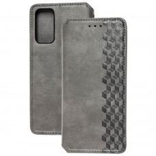 Чехол книжка для Samsung Galaxy S20 FE (G780) Getman Cubic серый