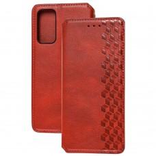 Чехол книжка для Samsung Galaxy S20 FE (G780) Getman Cubic красный